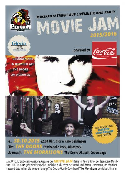 Movie Jam Gloria Kino Geislingen, 30.10.2015:Flyer
